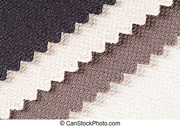 Composition of colored stripes of serrated cotton fabric -...