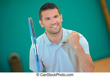 winning a tennis match