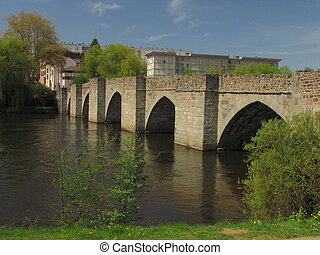 Roman bridge, millenium - Limoges, main city of Limousin