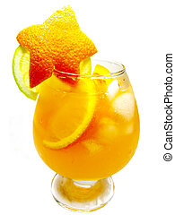 alcohol punch cocktail drinks with orange