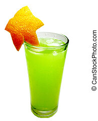 alcohol punch cocktail drink with orange