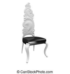 3d furniture high chair