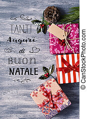 text tanti auguri di buon natale, merry christmas in italian...