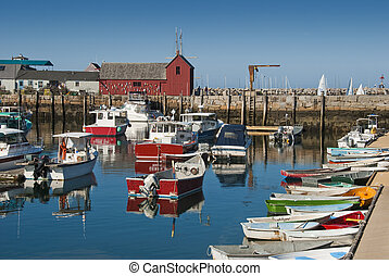 Rockport fishing harbor - Rockport fishing town off the...