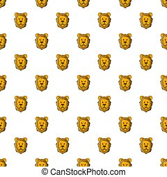 Face of lion pattern, cartoon style - Face of lion pattern....
