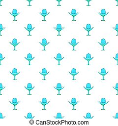 Gynecological chair pattern, cartoon style - Gynecological...