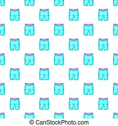 Blue shorts for swimming pattern, cartoon style - Blue...