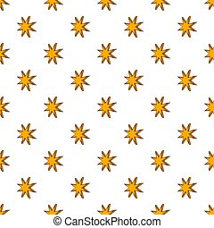 Eight pointed star pattern, cartoon style - Eight pointed...
