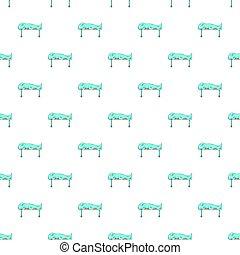 Dead on gurney pattern, cartoon style - Dead on gurney...