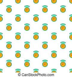Pocket watch pattern, cartoon style - Pocket watch pattern....
