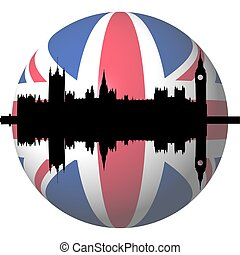 Houses of Parliament British flag sphere - Houses of...