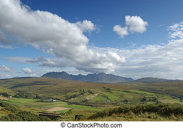 Cuillins and Carbostmore with big cloud - The Cuillins of...