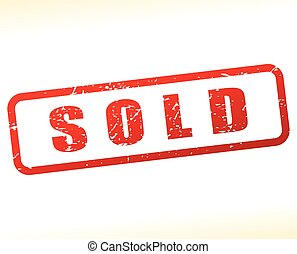 sold stamp on white background - Illustration of sold stamp...