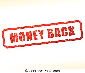 money back stamp - Illustration of money back stamp on white...