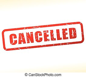 cancelled stamp on white background - Illustration of...