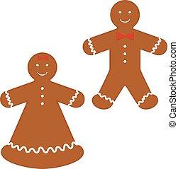 christmas cookies gingerbread man, xmas sweet food...