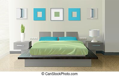 Modern Bedroom Realistic Design