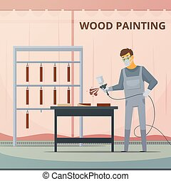 Professional Woodwork Painting Flat Poster - Professional...