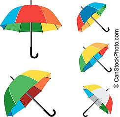 rainbow umbrella white background