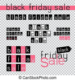 black friday sale - The sales stickers on transparent...