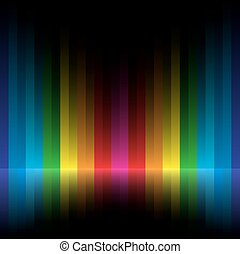 rainbow stripe dark background