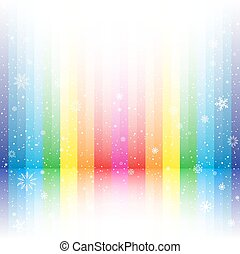 rainbow stripe snow background
