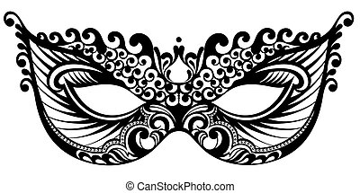 wr291.eps - Beautiful mask of lace. Mardi Gras vector...