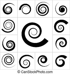 Collection of spiral vector elements. For your next...