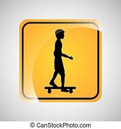 skater person sign sport extreme design vector illustration...