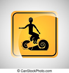 surfing person sign sport extreme design vector illustration...
