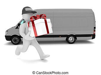 Manikin Gift Delivery Van