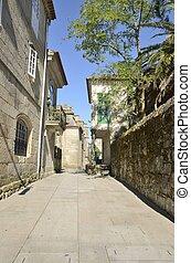 Street in the old part of Pontevedra, Galicia, Spain.