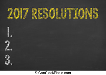 Resolutions 2017 on Blackboard
