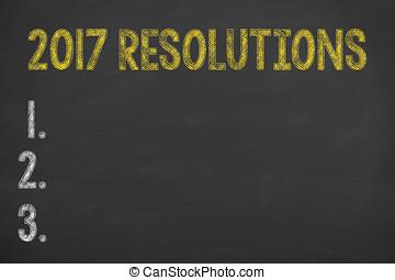 Resolutions 2017 on Blackboard