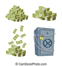 Accumulation and Saving Money concept Vector. - Accumulation...