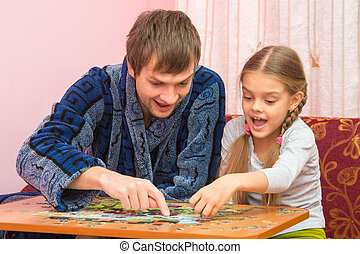 Dad and daughter are happy that you have found a place for...