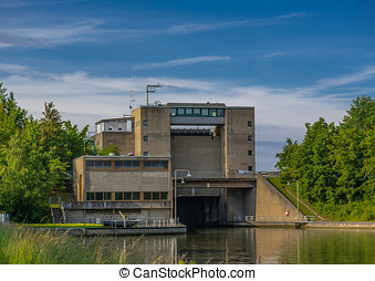 Watergate - A watergate at the main-danube channel in...