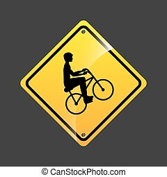 cyclist person sign sport extreme design vector illustration...