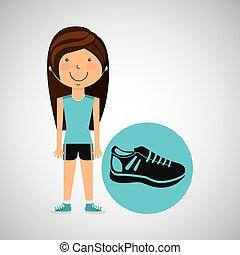 athlete girl sneaker sport style