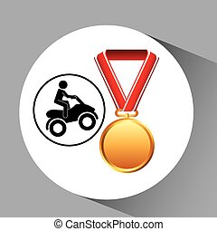 quad bike medal sport extreme graphic