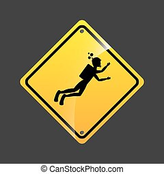 diving person sign sport extreme design vector illustration...