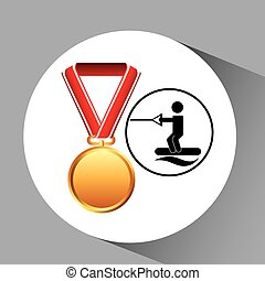 skate water medal sport extreme graphic