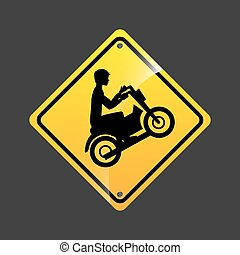 motorcycle rider sign sport extreme design vector...