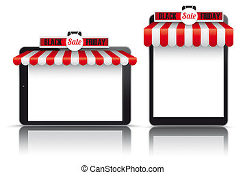 2 Tablets Red White Awning Black Friday
