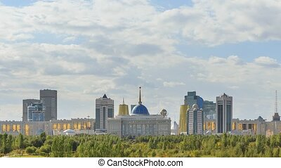 The main attractions of the new Astana. Akorda Palace,...