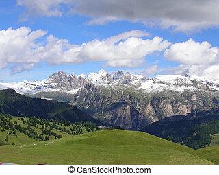 Mountains of Val Gardena, Dolomiti, Italy