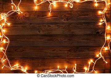 de madera, Plano de fondo, palabras, navidad