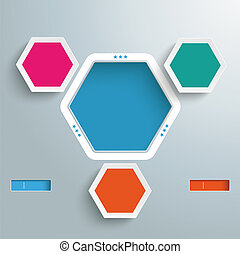 Hexagon Hole 3 Options Infographic - Infographic design with...