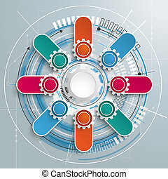 Futuristic Gear Technology Construction Circuit Board 8...