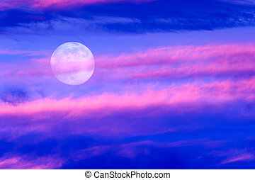 Moon Clouds - Moon clouds is a vibrant colorful surreal...